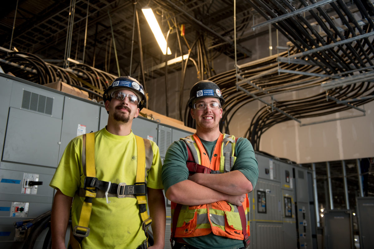 Employees with Electrical Panel